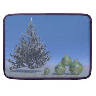 tree and snow and christmas sleeve for MacBooks