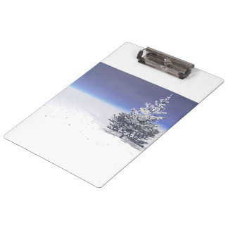 tree and snow white clipboard