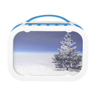 tree and snow white lunch box