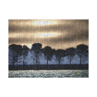 Tree Art Coffee and Cream Canvas Print