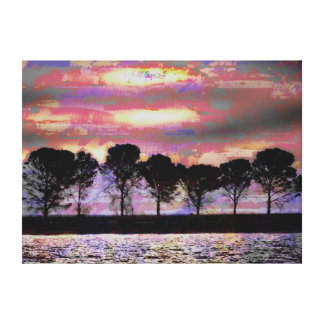 Tree Art Pink Champagne Gallery Wrap Canvas