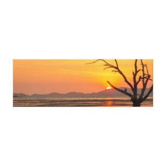 Tree at sunrise canvas print