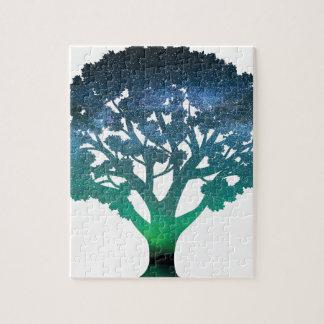 Tree Aurora Jigsaw Puzzle