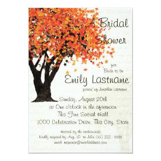 Tree Autumn Bridal Shower Card