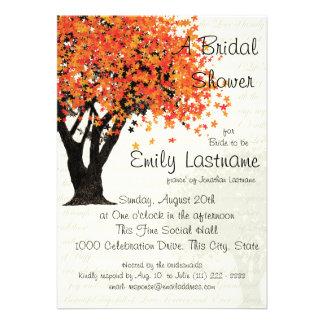 Tree Autumn Bridal Shower Invite
