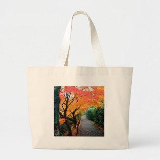 Tree Autumn Colors Japan Canvas Bag