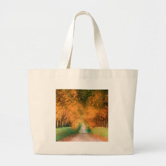 Tree Autumn Road France Tote Bag