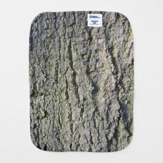 Tree bark baby burp cloth