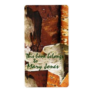 Tree Bark  Bookplate Shipping Label