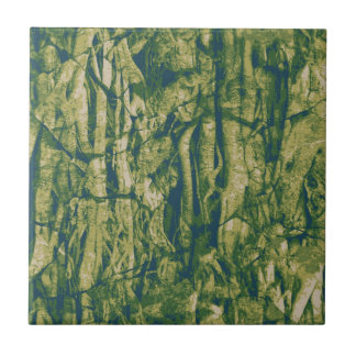 Tree bark camouflage pattern small square tile