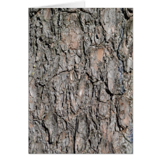 Tree bark card