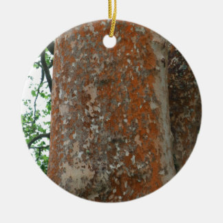 Tree Bark Ceramic Ornament
