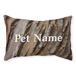 Tree Bark I Natural Abstract Textured Design Pet Bed