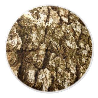 Tree Bark II Natural Abstract Textured Design Ceramic Knob