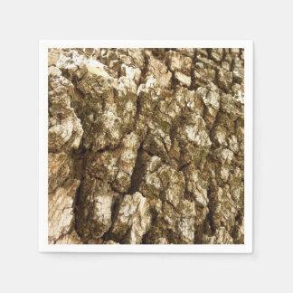Tree Bark II Natural Abstract Textured Design Disposable Serviette