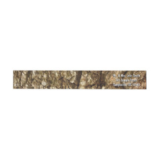 Tree Bark II Natural Abstract Textured Design Wrap Around Label