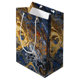 Tree Bark Marbled Abstract Medium Gift Bag