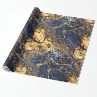 Tree Bark Marbled Abstract Wrapping Paper
