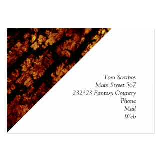 tree bark structure, brown business card
