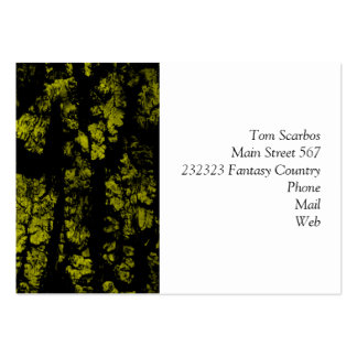 tree bark structure, green business cards