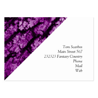 tree bark structure, purple business card template