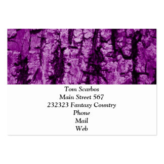 tree bark structure, purple business card