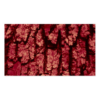 tree bark structure, red business cards