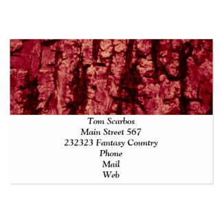 tree bark structure, red business card