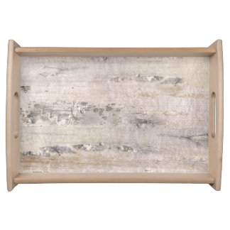 Tree Birch Bark White Serving Tray