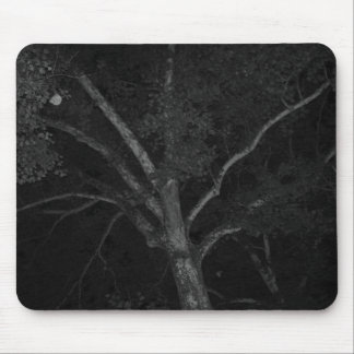 Tree Black and White Mouse Pad