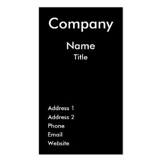 Tree Black White Business Card Template