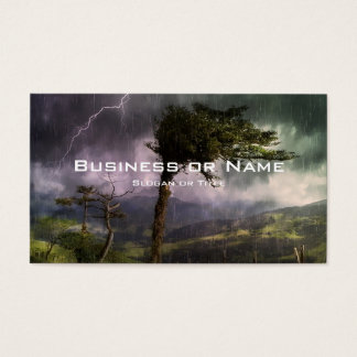 Tree Blowing in the Wind During a Thunder Storm Business Card