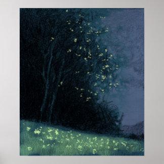 Tree - Blue variation 11 Poster