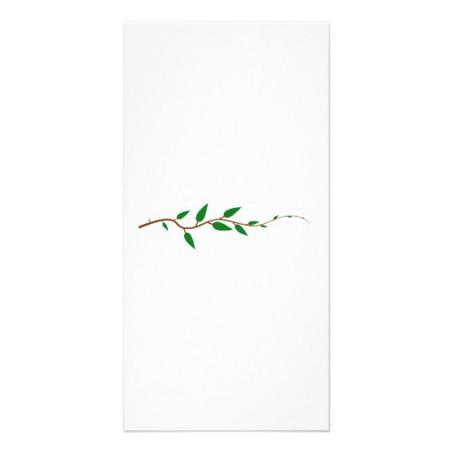 Tree Branch with Leaves Customized Photo Card