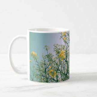 Tree Branches and Yellow Blossoms Mug