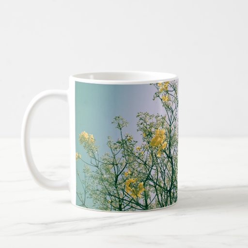Tree Branches and Yellow Blossoms Mug