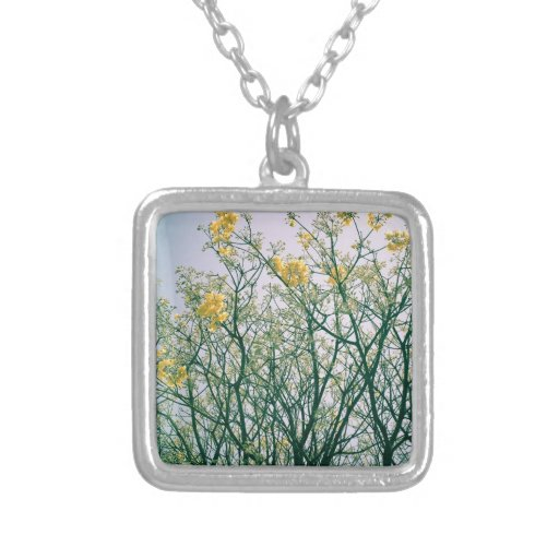 Tree Branches and Yellow Blossoms Custom Jewelry