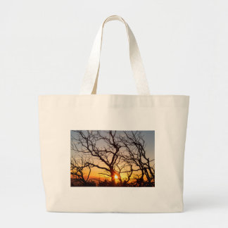 Tree Branches Dancing In The Sunlight Large Tote Bag