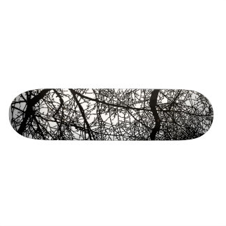 Tree Branches on Wood Skateboard