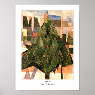 Tree by Theo Van Doesburg 1916 Dutch Poster