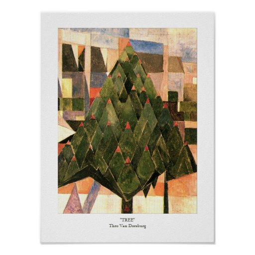 Tree by Theo Van Doesburg 1916 Dutch Posters