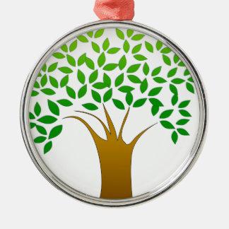 Tree Cartoon Metal Ornament