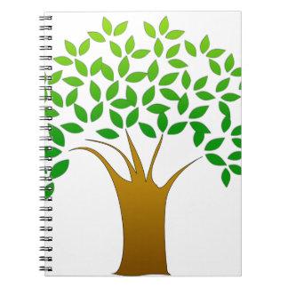 Tree Cartoon Spiral Notebook