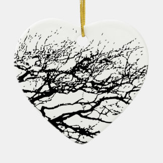 tree ceramic heart decoration