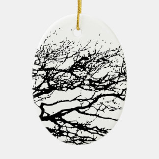 tree ceramic oval decoration