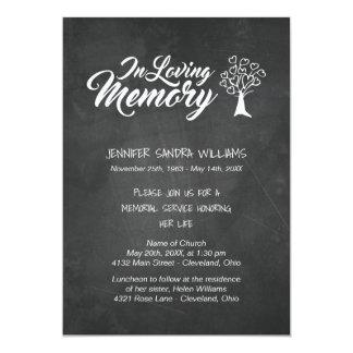 Tree & Chalkboard | In Loving Memory Card