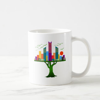Tree City Colorful Architecture Coffee Mug