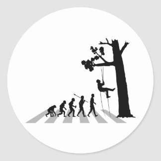 Tree Climbing Classic Round Sticker