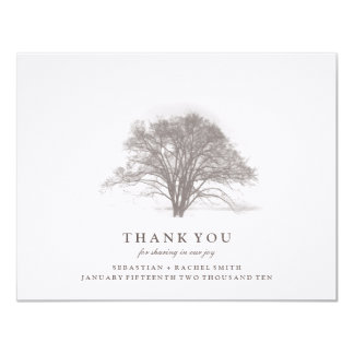 TREE COLLECTION: WEDDING THANK YOU 11 CM X 14 CM INVITATION CARD