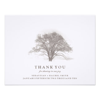 TREE COLLECTION WEDDING THANK YOU ANNOUNCEMENT